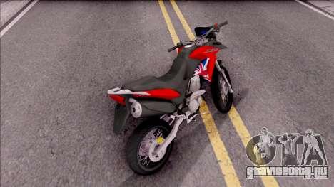 Honda XRE 300 для GTA San Andreas вид сзади слева