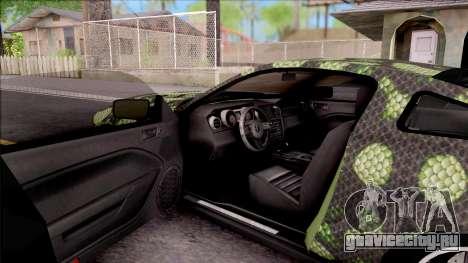 Ford Mustang Shelby GT500KR Super Snake v2 для GTA San Andreas вид изнутри