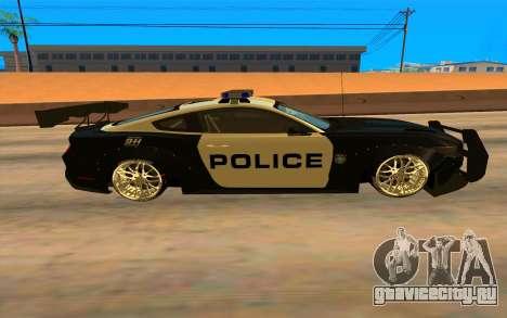 Ford Mustang GT 2015 Police Car для GTA San Andreas вид слева