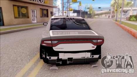 Dodge Charger RT 2016 для GTA San Andreas вид сзади слева