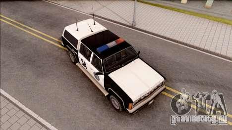 Police Rancher 4 Doors для GTA San Andreas вид справа