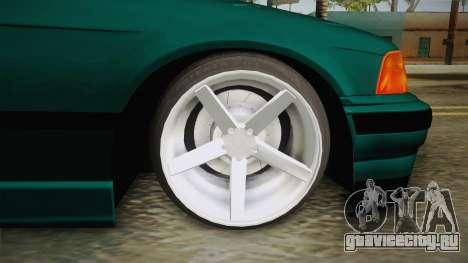 BMW M3 E36 Coupe для GTA San Andreas вид сзади