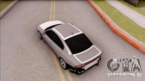 Dodge Charger RT 2016 для GTA San Andreas вид сзади