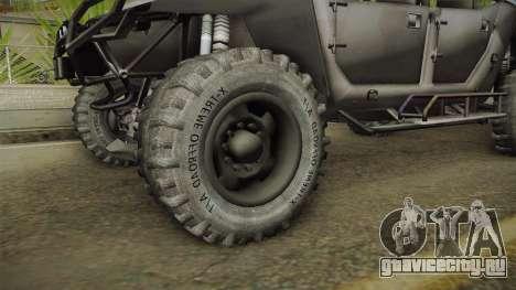 Ghost Recon Wildlands - Unidad AMV No Minigun v2 для GTA San Andreas вид сзади