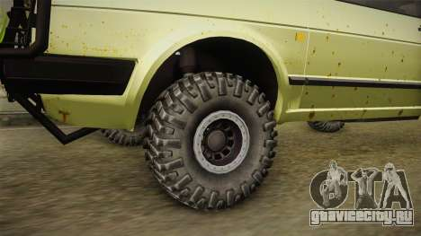 Volkswagen Golf Mk2 Country для GTA San Andreas вид сзади
