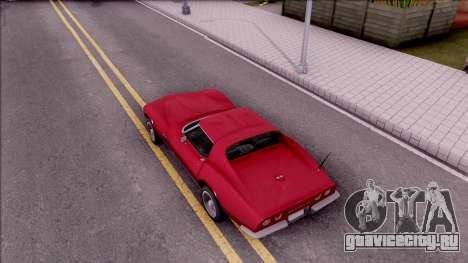 Chevrolet Corvette C3 Stingray для GTA San Andreas вид сзади