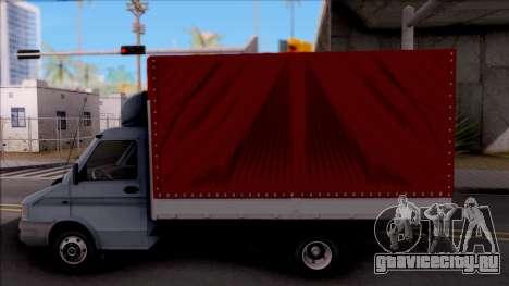 Zastava Daily 35 T для GTA San Andreas вид слева