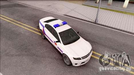 Cheval Fugitive Hometown PD 2012 для GTA San Andreas вид справа