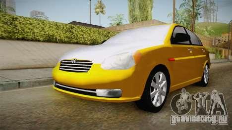 Hyundai Accent 2011 для GTA San Andreas вид справа
