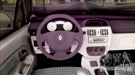 Renault Clio v1 для GTA San Andreas вид изнутри