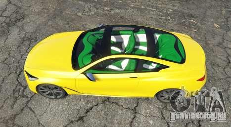 Infiniti Q60 Concept (CV37) 2015 для GTA 5 вид сзади