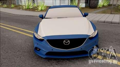 Mazda 6 Standard 2015 для GTA San Andreas вид изнутри