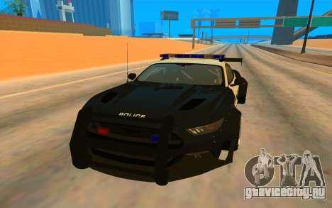 Ford Mustang GT 2015 Police Car для GTA San Andreas вид сзади