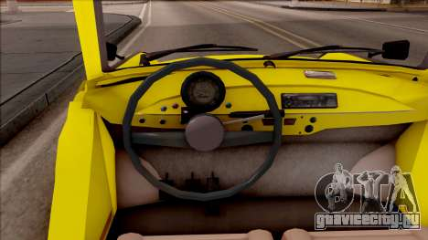 Trabant 601 Kübelwagen для GTA San Andreas вид изнутри