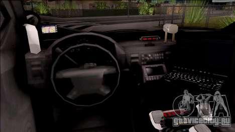 Vapid Police Interceptor Hometown PD 2012 для GTA San Andreas вид изнутри