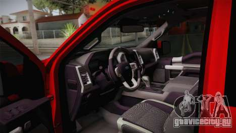 Ford F-150 Raptor 2017 для GTA San Andreas вид сбоку
