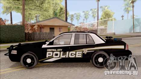 Ford Crown Victoria Central City Police для GTA San Andreas вид слева