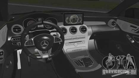 Mercedes-Benz C63 Coupe Rashid Edition для GTA San Andreas вид сзади