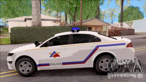 Vapid Police Interceptor Hometown PD 2012 для GTA San Andreas вид слева