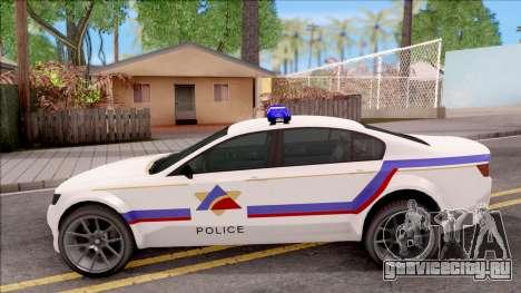 Cheval Fugitive Hometown PD 2012 для GTA San Andreas вид слева