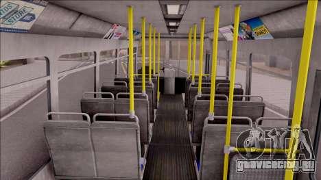 GTA V Brute Bus для GTA San Andreas вид изнутри