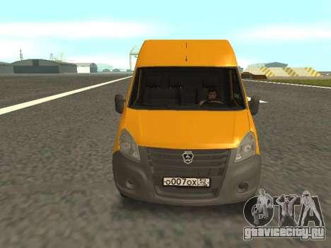 ГАЗ-A65R35 ГАЗель NEXT Маршрутка для GTA San Andreas вид сзади слева
