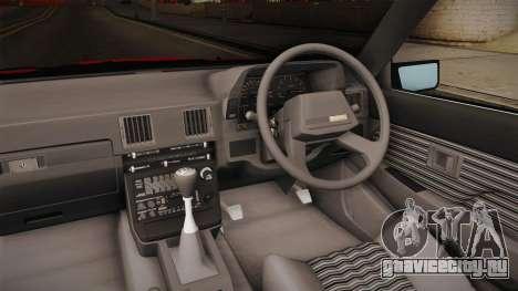 Toyota Celica Supra Cabrio 1984 для GTA San Andreas вид изнутри