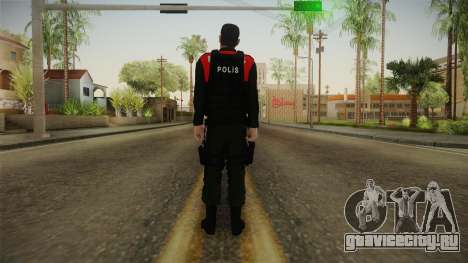 Turkish Police Officer with Kevlar Vest для GTA San Andreas третий скриншот