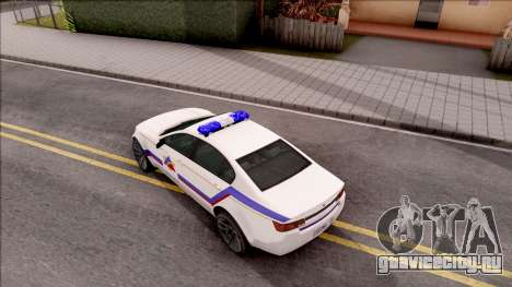 Cheval Fugitive Hometown PD 2012 для GTA San Andreas вид сзади
