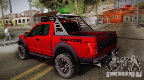 Ford F-150 Raptor 2017 для GTA San Andreas вид слева