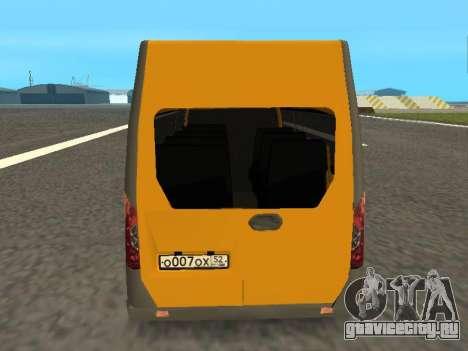 ГАЗ-A65R35 ГАЗель NEXT Маршрутка для GTA San Andreas вид справа
