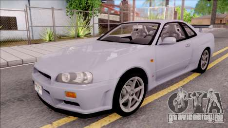 Nissan Skyline GT-R R34 Vspec Stock для GTA San Andreas