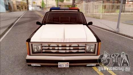 Police Rancher 4 Doors для GTA San Andreas вид изнутри