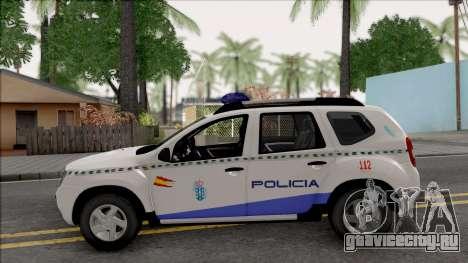 Renault Duster Spanish Police для GTA San Andreas вид слева