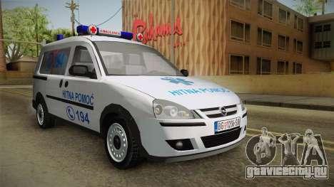 Opel Combo Ambulance для GTA San Andreas вид справа