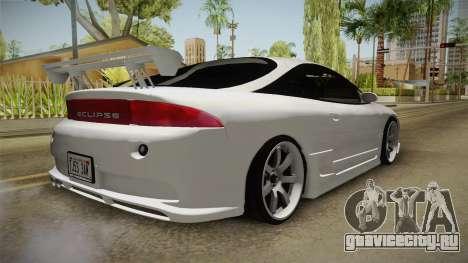Mitsubishi Eclipse GSX для GTA San Andreas вид сзади слева