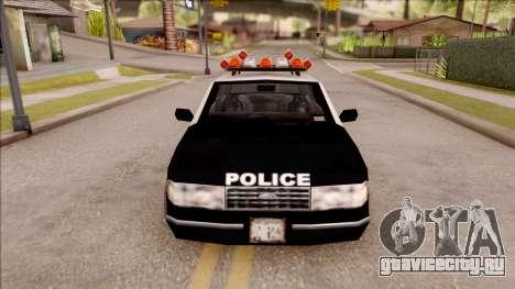 Police Car from GTA 3 для GTA San Andreas вид изнутри