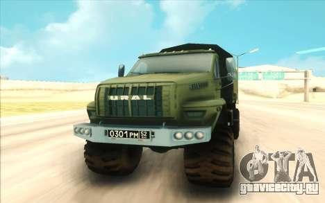 Урал NEXT Военный для GTA San Andreas вид сзади