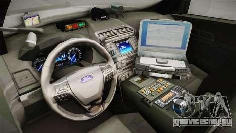 Ford Explorer 2016 YRP для GTA San Andreas вид изнутри