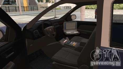 Chevrolet Tahoe Spanish Police для GTA San Andreas вид изнутри