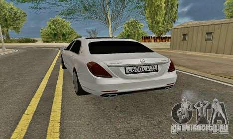 Mercedes-Maybach S600 X222 Exclusive для GTA San Andreas вид сзади слева