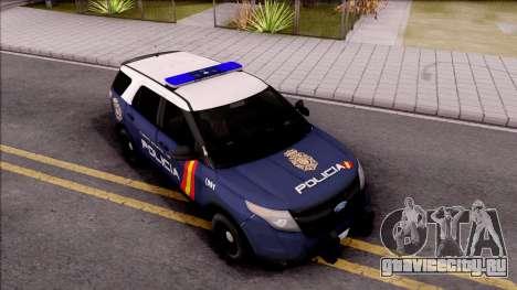 Ford Explorer Spanish Police для GTA San Andreas вид справа