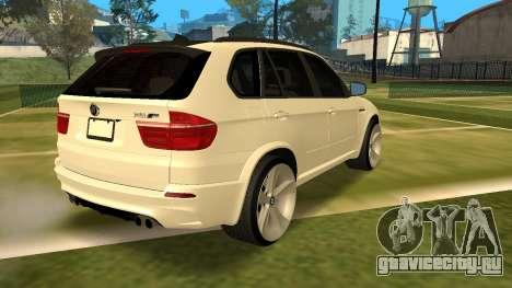 BMW X5M v1.2 для GTA San Andreas вид слева