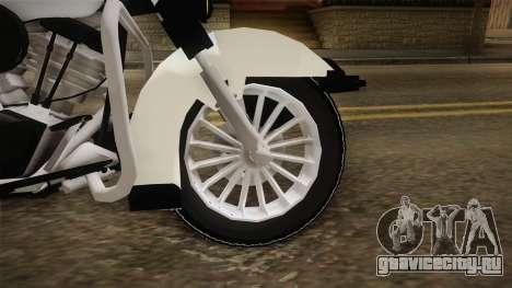 Harley-Davidson Police Bike YRP для GTA San Andreas вид сзади