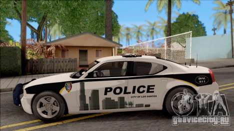 Dodge Charger Los Santos Police Department 2010 для GTA San Andreas вид слева