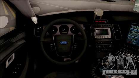 Ford Taurus Turkish Security Police для GTA San Andreas вид изнутри