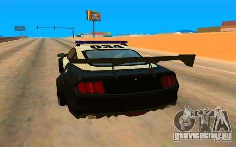 Ford Mustang GT 2015 Police Car для GTA San Andreas вид справа
