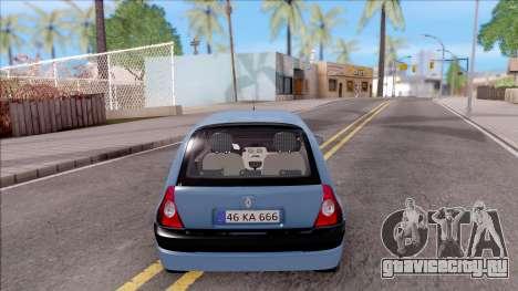 Renault Clio v2 для GTA San Andreas вид сзади слева