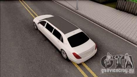 Mercedes-Maybach S600 Pullman для GTA San Andreas вид сзади