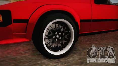 Toyota Celica Supra Cabrio 1984 для GTA San Andreas вид сзади